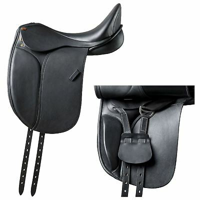"Eric Thomas ""Jerez"" Deap Seat Read Leather Saddle and Cover Black"