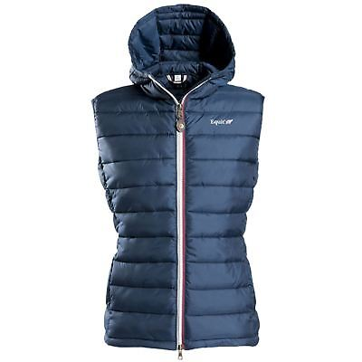 Equit?M Kids ?E.L? Quilted Waistcoat Outdoor Gilet Navy