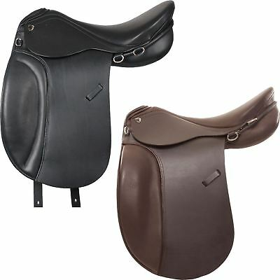 Horka Equestrian Island Leather Grip Easy Fit Comfort Seat Horse Riding Saddle