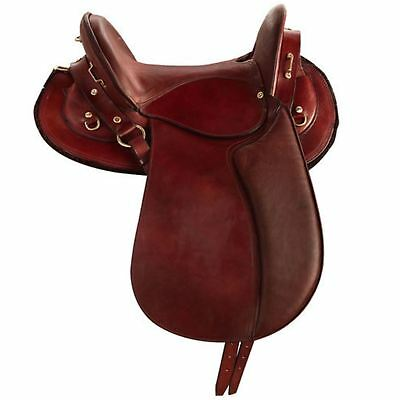 "Randol's ""Lozere"" Brass Fitting Saddle Chestnut Brown"