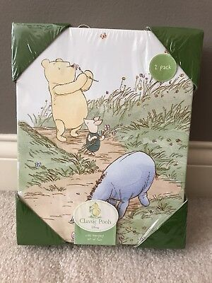 NEW SEALED Classic Pooh by Disney Wall Hangings set of two