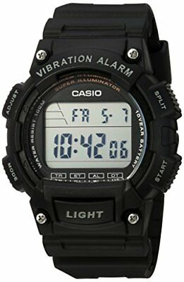 Casio Men's Illuminator Digital 100m Quartz Resin Black Watch W736H-1AV
