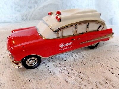 Dept 56 Snow Village 1957 Ambulance Classic Cars AS IS