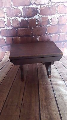Antique Vintage Old Wooden Stool Seat Milking Farm Apprentice Table Dolls Teddy
