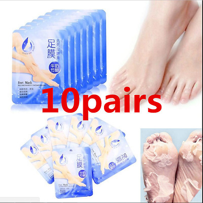 10 Pairs Exfoliating Peel Foot Mask Hard Dead Skin Baby Soft Feet Remove Callus