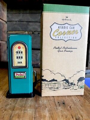 Hallmark Kiddie Car Corner Collection Pedal Petroleum Gas Pump New in Box