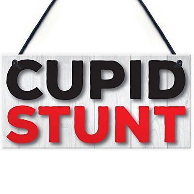 Red Ocean Cupid Stunt Funny Man Cave Home Bar Shed Pub Hanging Plaque