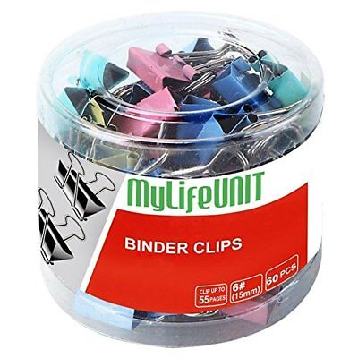 MYLIFEUNIT Colorful Metal Binder Clips 15mm Notes Letter Paper Clip Office