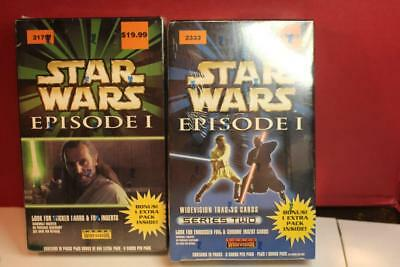Star Wars Topps Widevision Episode 1 Movie Box Factory Sealed Boxes Series 1 & 2