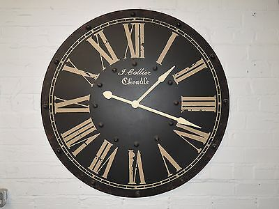 Large  Vintage Looking Antique  Wall Clock 93.5Cm In Diameter Code 7B5K