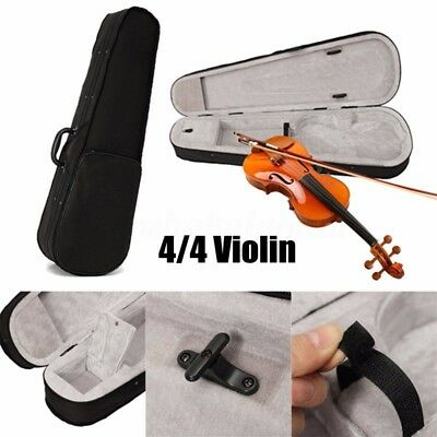Portable Professional Student Cloth Fluff Violin Case Bag Black Triangle Shaped