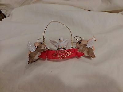 Charming Tails HOLIDAY BLESSINGS mice ANNUAL ORNAMENT 2008 DEAN GRIFF ENESCO(52)