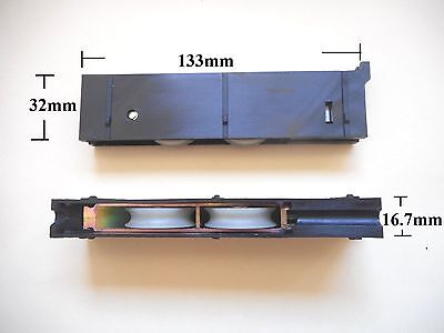 Sliding Glass Door Rollers( 2 )Heavy Duty Dual Rollers 100KG  Each Doric DR2003