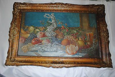 True Fruit J. Hungerford Smith Co. Tin Sign Vintage Antique Advertising