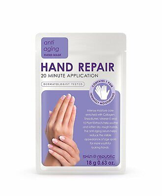 Skin Republic Anti Ageing Hand Mask Gloves Skin Care Rejuvenation Treatment 18g