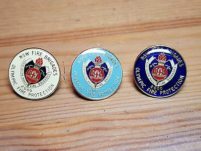 nsw fire brigade olympic fire protection pins