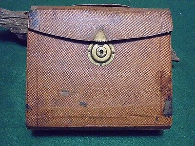 Leather Over Wood Stationary Portable Traveling Secretary Box