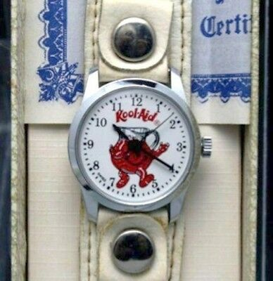 Kool-aid Kool Aid Watch Promo Logo Mechanical Wind up Watch RARE