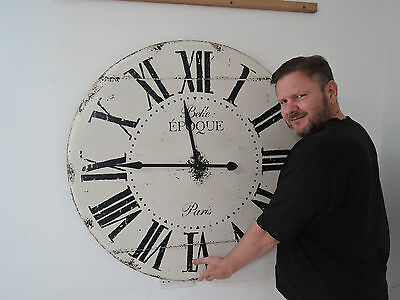 Large  Vintage Looking Antique Belle Epoque Wall Clock 99Cm In Diameter 6A1K