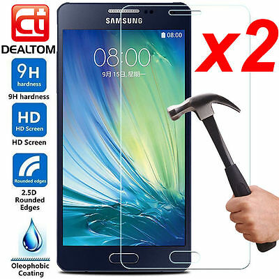 2X 9H+ Tempered Glass Screen Protector For Samsung Galaxy A3 A5 A7 2016 / 2017 Y