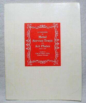Coca Cola Archives 1970 Catalog of Metal Service Trays & Art Plates Since 1898