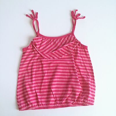 OLD NAVY Girls Size 6 7 Pink Striped Tank Top