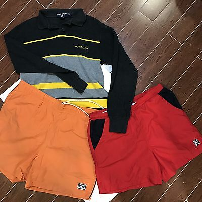 Lot Of Three Polo Ralph Items, Sport, Chaps, Swimwear A Various Sizes