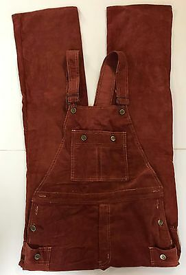 Vintage Men's 70s Studio 33 Corduroy Bib Overalls Sz 34 Burning Man Disco