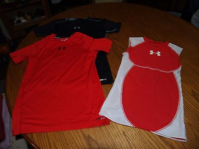 LOT OF 3~YOUTH~UNDER ARMOUR~NIKE~T Shirts~SZ L~S/S~SLEEVELESS