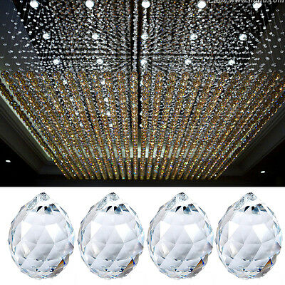 1PC Luxury Hanging Crystal Ball Clear 20mm Sphere Prism Rainbow Pendant Light