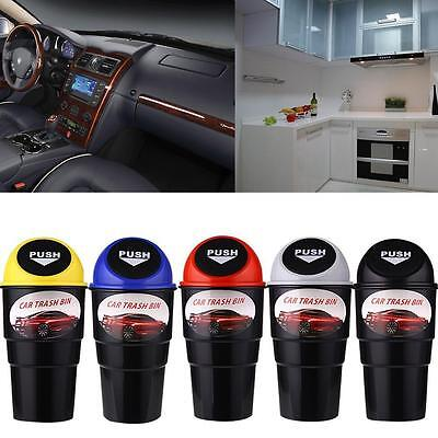 Mini Can Dustbin Box Trash Rubbish Garbage Dust Case Holder Bin Hook For Car  CU