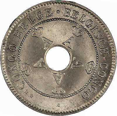 Belgian Congo 1927 10 Centimes CHOICE LIGHTLY TONED BU