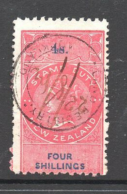 New Zealand,UK Revenue 1867/82 Q.Victoria Duty Long Types >4/-Shilling  F/u
