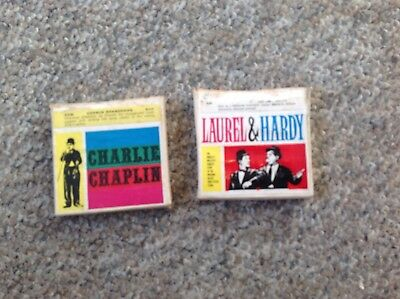 35mm Capital Films Photo Tapes Of Charlie Chaplin & Laurel & Hardy