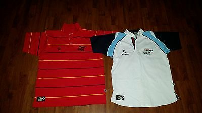 rugby union - international rugby 7s adelaide - polo shirts x 2 - size large