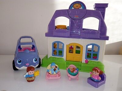 Fisher Price - Educational Musical Little People - Purple House lot