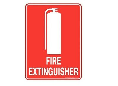 6 x FIRE EXTINGUISHER LOCATION SIGNS - FREE POSTAGE