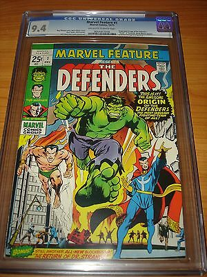 MARVEL FEATURE #1 - CGC 9.4 NM (Origin and 1st App. of the Defenders ; OW/W Pgs)