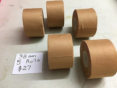 Premium Quality Rigid Sports Strapping Tape 5 Rolls of 38mm  Excellent Value
