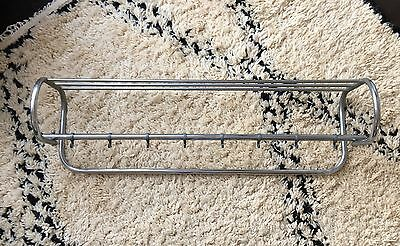 Mid Century Modern Chrome Wall Mounted Coat & Hat Rack