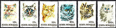 Romania 1999  Cats Complete Set of Stamps  MNH