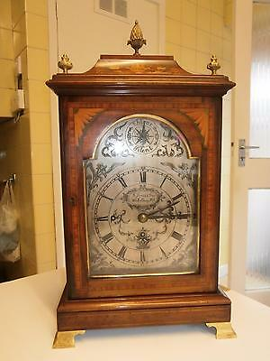 Inlaid Mahogany London Triple Fusee Two Tune  Musical Bracket Clock on 8 Bells