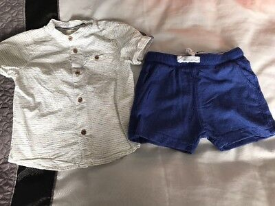 Baby Boys Zara Outfit - 6 To 9 Months