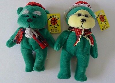Skansen Beanie Kids Grandpa and Grandma Kringle BK188, BK246 MWMT Retired Ltd Ed