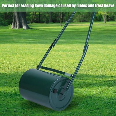Heavy Duty Stell 30L Water / Sand Filled Garden For Grass / Lawn Poly Roller New