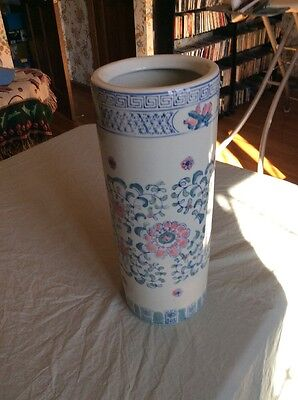 Chinese Porcelain Floral Umbrella Stand