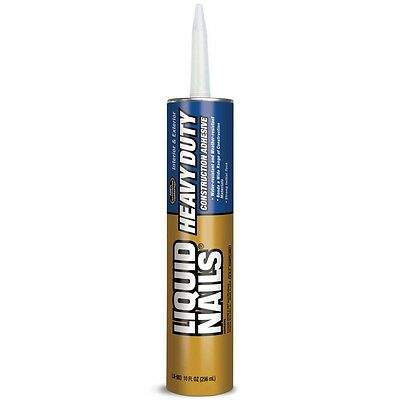 LIQUID NAILS Heavy Duty Construction Adhesive Durable and Flexible Excellent New