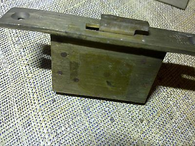 desk lock or writing slope lock, 86 mm, brass, antique or vintage (SA91)