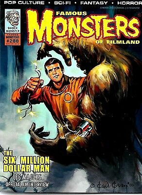 Famous Monsters Of Filmland #288 The Six Million Dollar Man  Excellent Condition