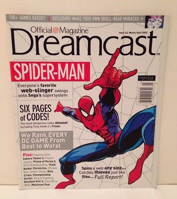 Official Dreamcast Magazine Issue 12 Spider-Man Cover March/April 2001